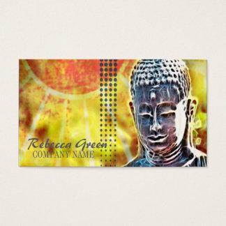 elegant buddha massage SPA modern zen Business Card