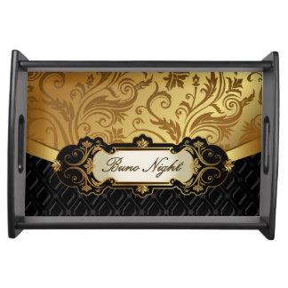 Elegant bunco serving tray