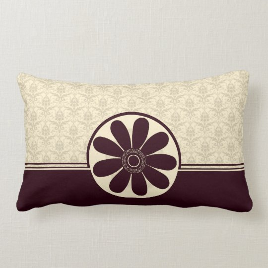 Elegant Burgundy Damask American MoJo Pillow