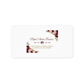 Elegant Burgundy Marsala Floral Fall Wedding