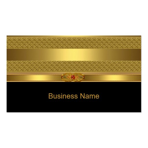 Elegant Business Card Gold Deco Red Jewel Image Business Cards