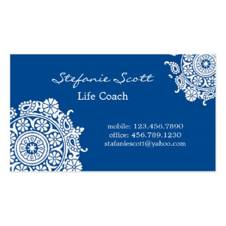 Elegant Business Card in Royal Blue and White
