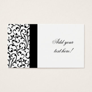 Elegant Business Card Modern Damask Pattern