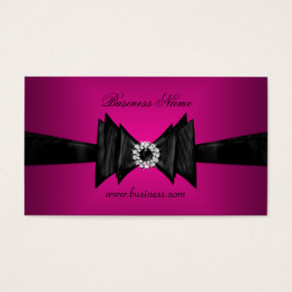 Elegant Business Card Rich Pink Diamond Black