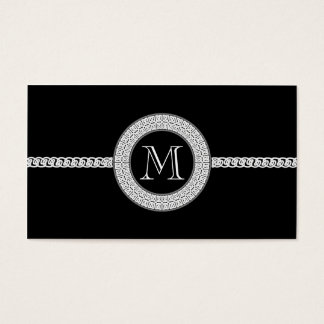 Elegant business card template Monogram