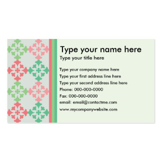 Elegant Business Card with Side Pattern