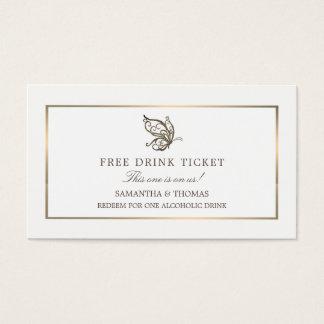 Elegant Butterfly, Free Drink Ticket