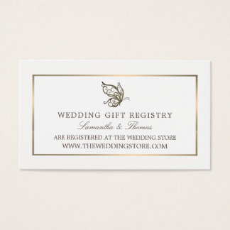 Elegant Butterfly, Gift Registry Business Card