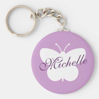 Elegant butterfly keychain for girls | Lavender