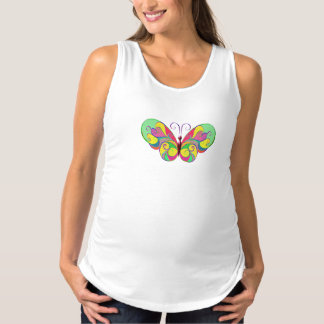 elegant butterfly maternity tank top