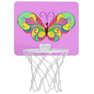 elegant butterfly mini basketball hoop