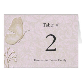 Elegant Butterfly Reception Table Number