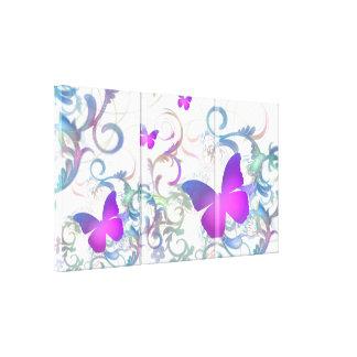 Elegant Butterfly Swirl Gallery Wrap Canvas