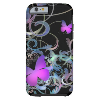 Elegant Butterfly Swirl Tough iPhone 6 Case