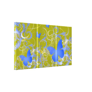 Elegant Butterfly Swirl (Pink) Gallery Wrapped Canvas