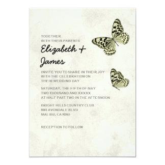 Elegant Butterfly Wedding Invitations Custom Announcements