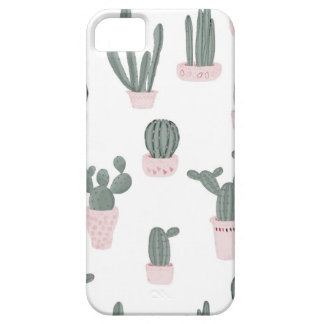 Elegant Cacti in Pots Pattern Case For The iPhone 5