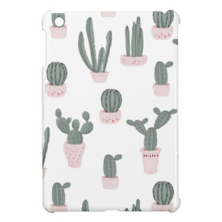 Elegant Cacti in Pots Pattern iPad Mini Cover