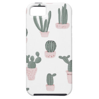 Elegant Cacti in Pots Pattern iPhone 5 Cover