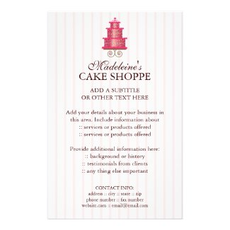 Elegant Cake Custom Bakery Business Flyer