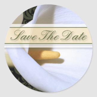 Elegant Calla Lily Save The Date Sticker