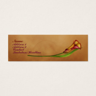 Elegant Calla Mini Business Card