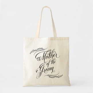 Elegant Calligraphy Wedding Mother of the Groom Tote Bag