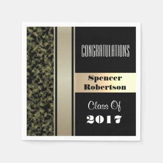 Elegant Camouflage Graduation Paper Napkins