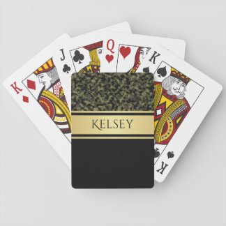 Elegant Camouflage w/Name Playing Cards