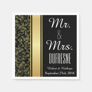 Elegant Camouflage Wedding Paper Napkin