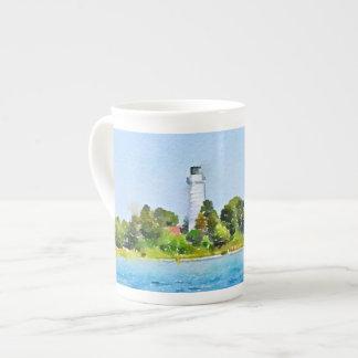 Elegant Cana Island Lighthouse Door County Tea Cup