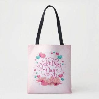 Elegant Candy Hearts Valentine's Day Tote Bag