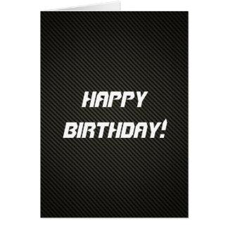 Elegant Carbon Fiber Birthday Card
