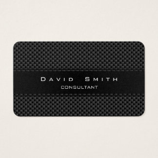 Elegant carbon fiber professional modern gold business card