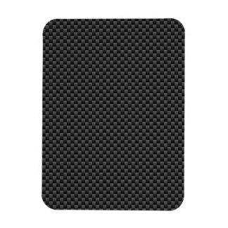 Elegant Carbon Fiber Style Print Decor Magnet