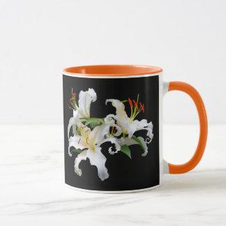 Elegant Casablanca White Oriental Lilies Mug