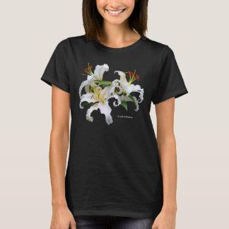 Elegant Casablanca White Oriental Lilies T-Shirt