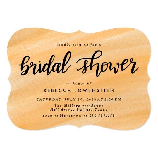 Elegant  Casual Handwritten Bridal Shower Card
