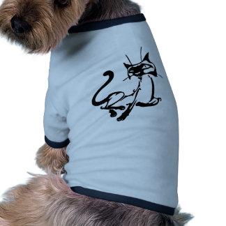 Elegant Cat Doggie T Shirt