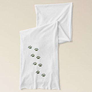 elegant cat paw prints scarf