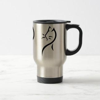 Elegant cat stainless steel travel mug