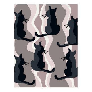 Elegant cats postcard