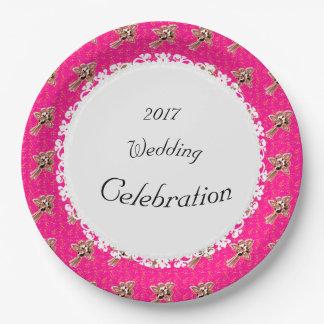 Elegant-Celebration-Golden-Roses-Pink (c)TEMPLATE Paper Plate