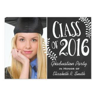 Elegant Chalkboard Class of 2016 Graduation Party Card