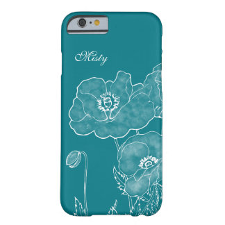 Elegant Chalkboard Floral Custom Color and Name Barely There iPhone 6 Case