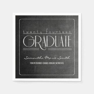 Elegant Chalkboard Graduation Napkins Disposable Napkins