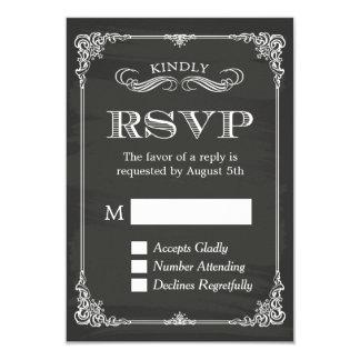 Elegant Chalkboard Vintage Frame Decor RSVP Card