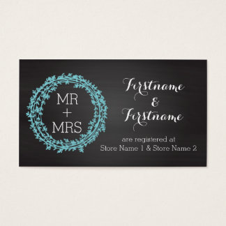 Elegant Chalkboard Wedding Registry & Website Card
