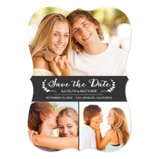 Elegant Chalkboard Wedding Save the Date Card