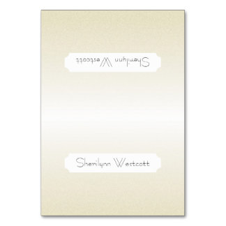Elegant Champagne Name Template Place Cards Table Card